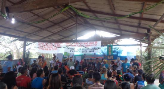 Relançamento do Caderno Cartografia Social 1 Resistência e Mobilização dos Povos Indígenas do Baixo Tapajós com mapa atualizado em 2015.