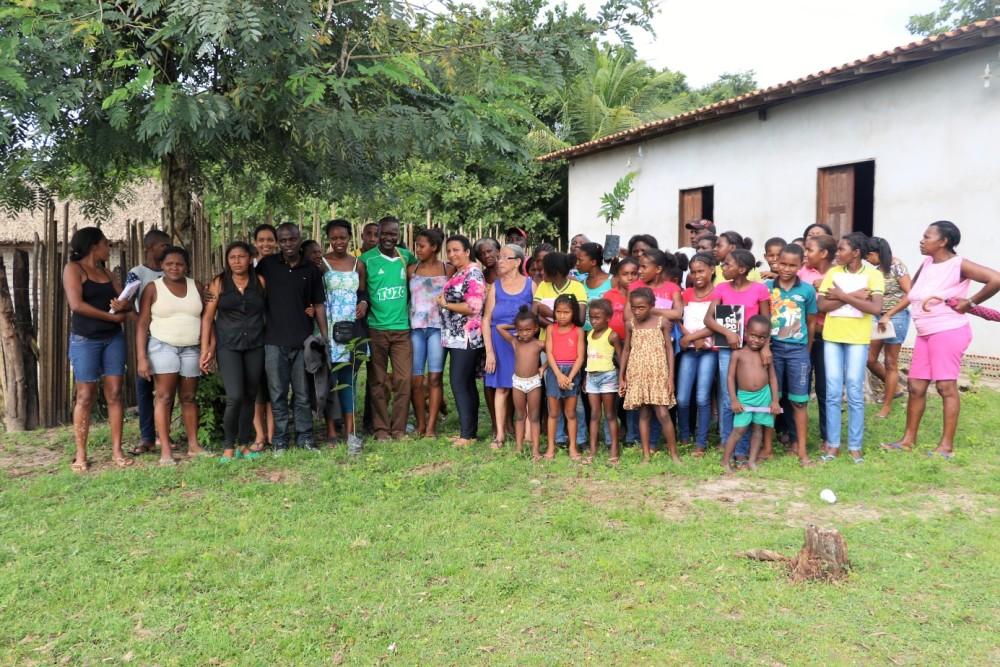 Visita dos quenianos a comunidade quilombola São Miguel dos Correias