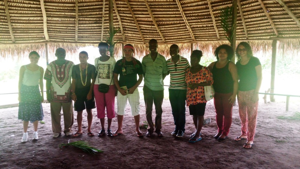 Quenianos em visita aos povos indígenas Gamela em Viana/MA