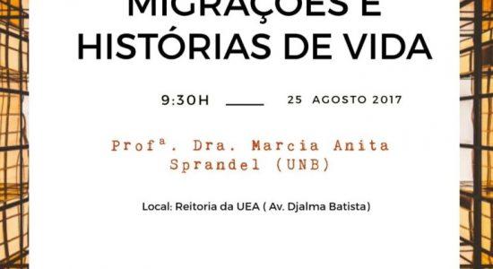 PPGICH: Aula Inaugural 2017-2, dia 25 de agosto de 2017 às 9h30 em Manaus - AM