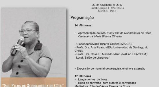 CONVITE LANÇAMENTO DO LIVRO DE CLEDENEUZA